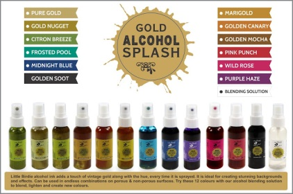 alcohol splash gold
