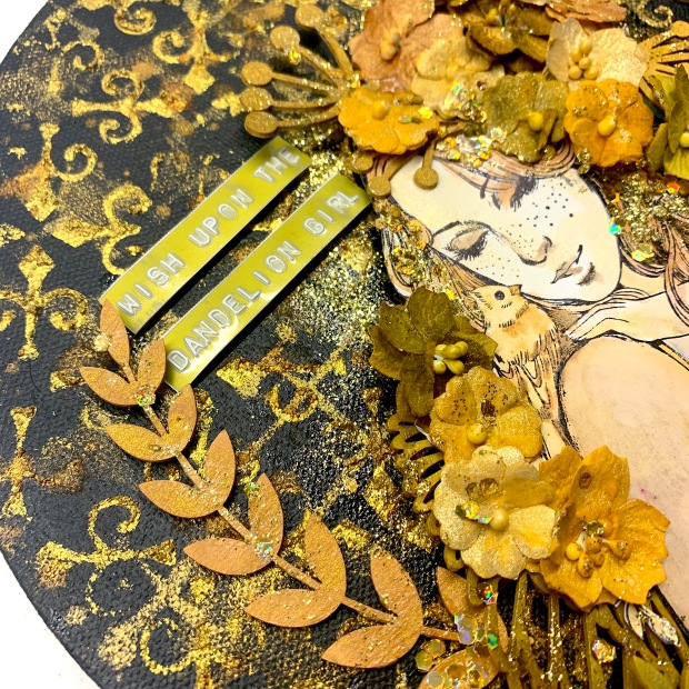 Stencilgirl Blog Hop Sunila Mahajan Aditi Mahajan Dots to Lines Lindy's 6