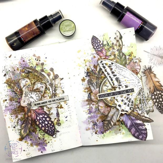 Art Journal_Aditi Mahajan_Dots to Lines_Mixed Media_Lindys_ABStudio_Finnabair1